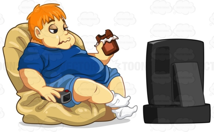 Image result for fat man cartoon on computer in sitting room